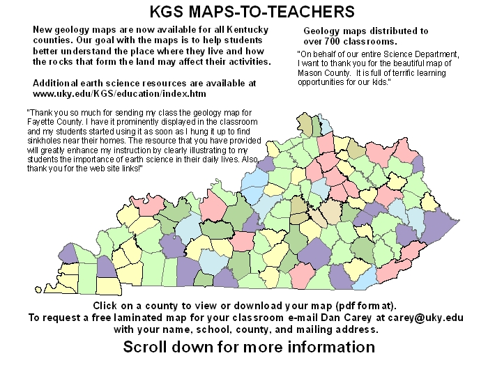 Earth Science Resources Available to Kentucky Teachers Kentucky