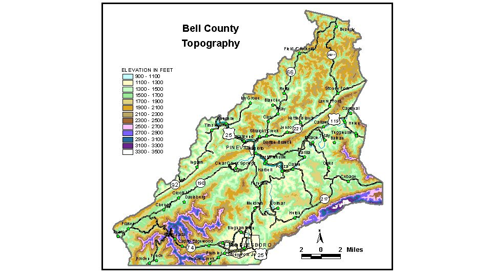 Groundwater Resources Of Bell County Kentucky - Cumberland river on us map