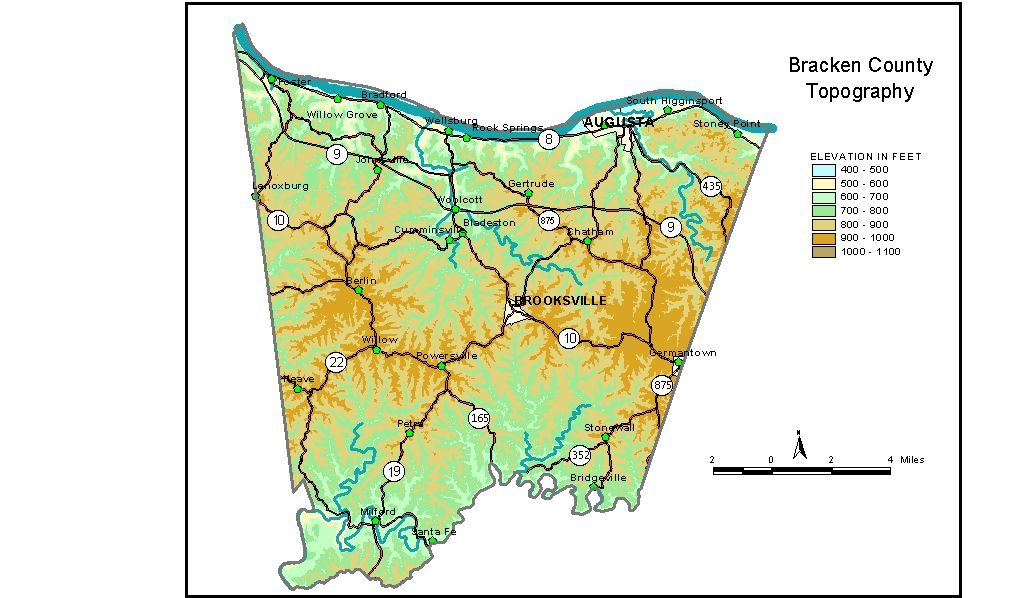 Groundwater Resources Of Bracken County Kentucky - Ky map forms