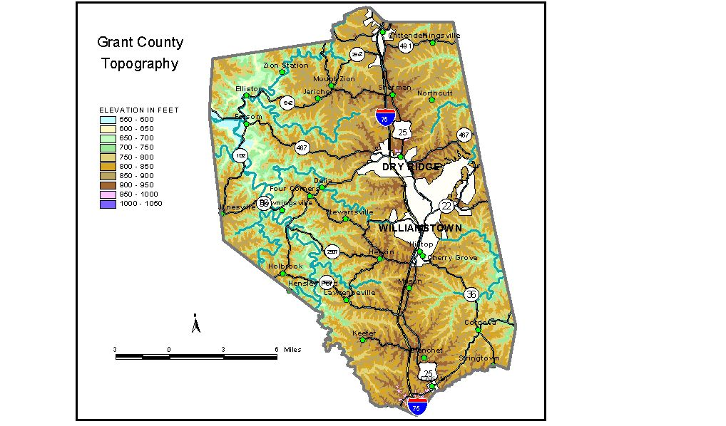Groundwater Resources Of Grant County Kentucky - Missouri map county lines