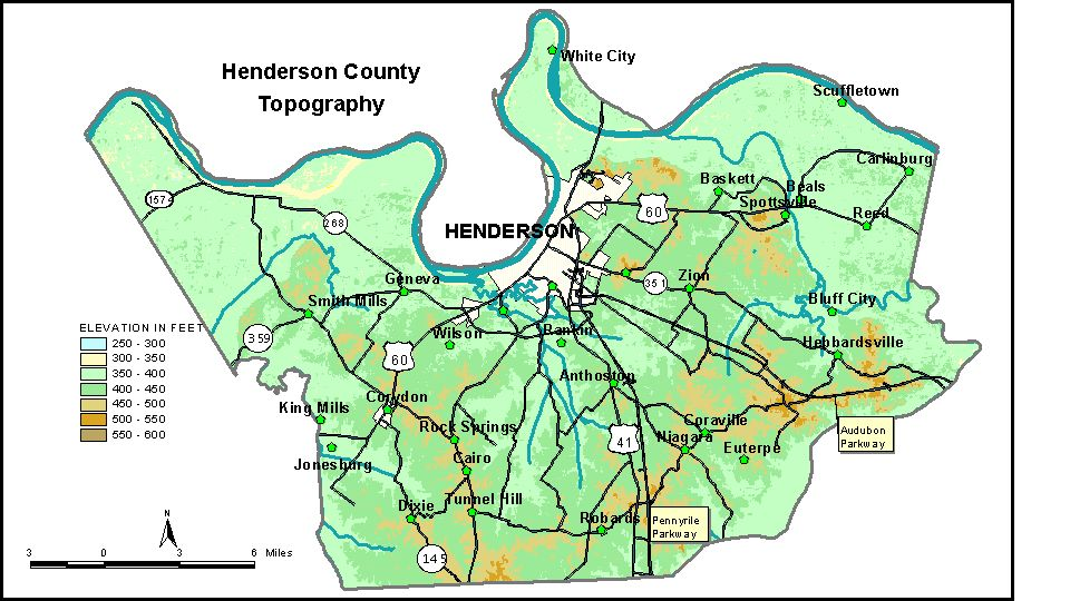 Groundwater Resources Of Henderson County Kentucky - Map of western kentucky