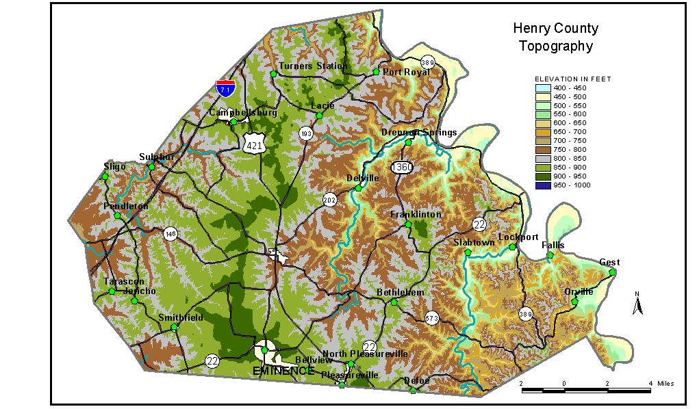 Groundwater Resources Of Henry County Kentucky