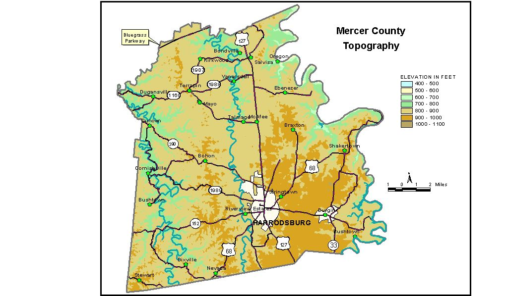 Groundwater Resources Of Mercer County Kentucky