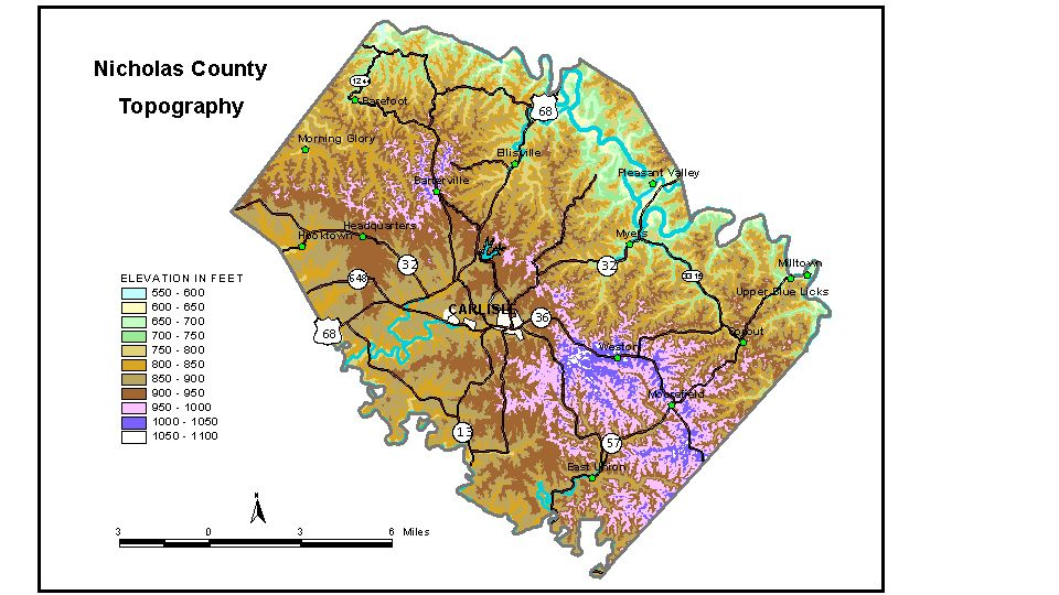 Groundwater Resources Of Nicholas County Kentucky