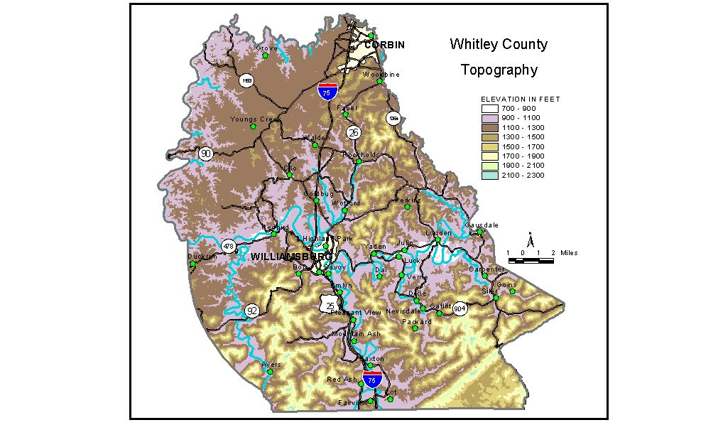 Groundwater Resources Of Whitley County Kentucky - Ky county map